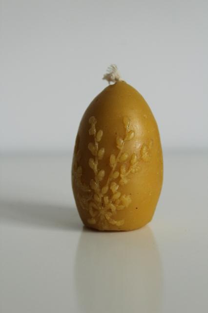 świeca woskowa jajko bazie