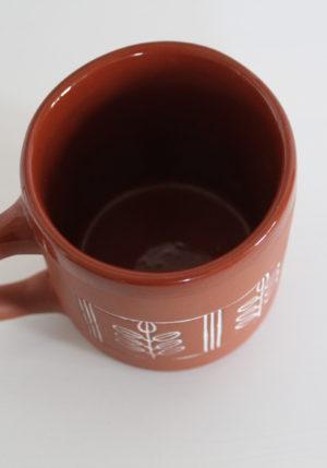 kubek ceramiczny liście akacji Green Village 2