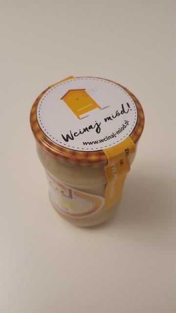 miód rzepakowy z pyłkiem pszczelim