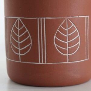 kubek ceramiczny liście lipy Green Village-3
