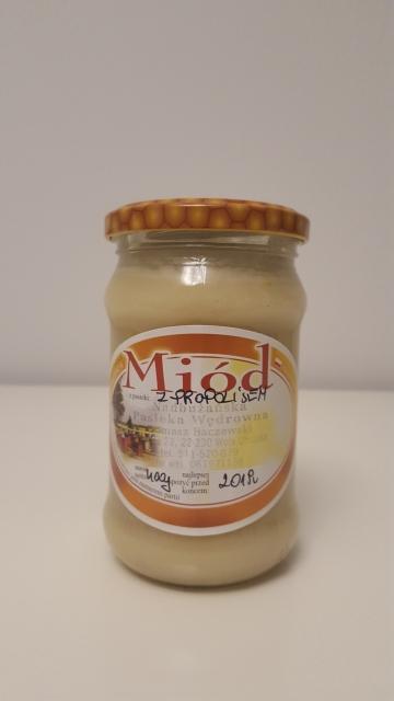 miód rzepakowy z propolisem